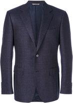 Canali textured fitted blazer - men - Cupro/Wool - 48