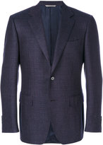 Canali textured fitted blazer