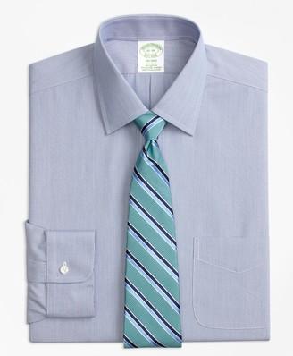Brooks Brothers Stretch Milano Slim-Fit Dress Shirt, Non-Iron Hairline Stripe