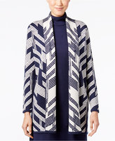 Alfani Petite Patterned Open-Front Cardigan, Only at Macy's