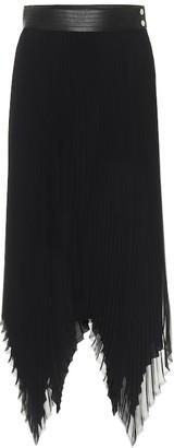 Loewe High-rise georgette midi skirt