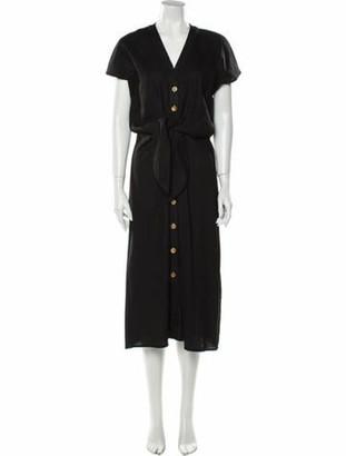 Veronica Beard V-Neck Midi Length Dress w/ Tags Black