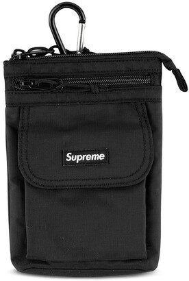 Supreme logo patch shoulder bag