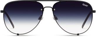 Quay High Key Rimless 55mm Gradient Aviator Sunglasses