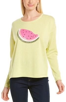 LISA TODD Whata-Melon Linen-Blend Sweater