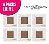Almay 6-PACK ! Pure Blends Eyeshadow, Natural Blends Eyeshadow (205-Cocoa)
