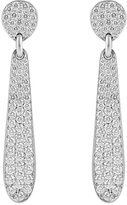Linda Lee Johnson Women's White Diamond Honeycomb Earrings