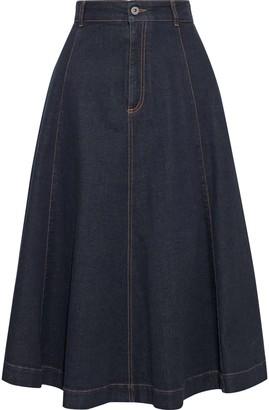 Stella McCartney Ellen Flared Denim Skirt