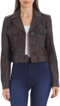 AVEC LES FILLES Leather Trucker Jacket
