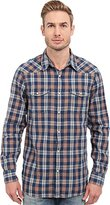 Lucky Brand Men's Indigo Santa Fe Western Shirt