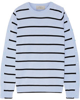 Preen by Thornton Bregazzi Ada Striped Wool-blend Sweater - Sky blue