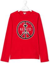 Kenzo teen long sleeve printed T-shirt