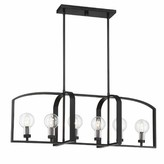 Bronx Seales Linear 6-Light Outdoor Chandelier Ivy