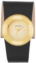 Anne Klein Leather Strap Watch, 40mm