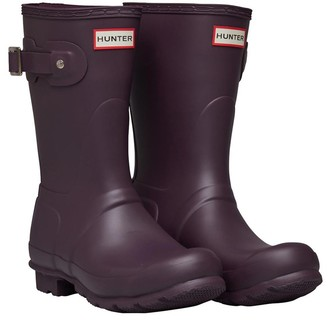 Hunter Womens Short Wellington Boots Black Grape