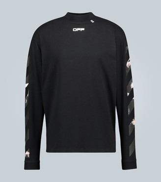 Off-White Caravaggio Arrow mockneck T-shirt
