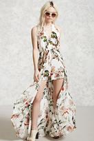 Forever 21 FOREVER 21+ Floral Maxi Skort Romper