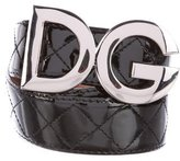 Dolce & Gabbana Quilted Patent Leather Belt