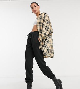 Topshop Tall sweatpants in black