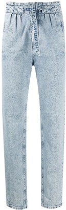 Isabel Marant Paperbag Tapered Cut Jeans