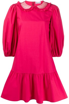 RED Valentino Puffy Sleeves Panelled Dress