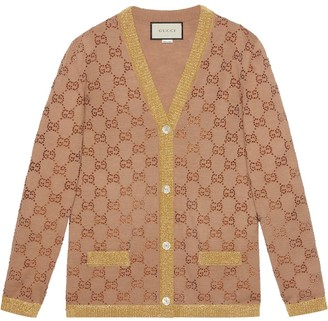 Gucci Cardigan with crystal GG motif