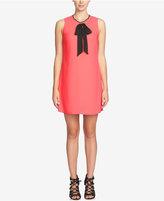 CeCe Rosie Tie-Neck Shift Dress