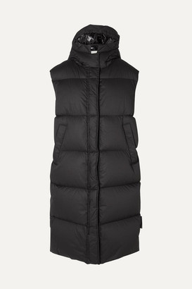 Moncler Hooded Quilted Cotton Down Vest - Black
