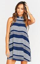 MUMU V-Right Back Mini Dress ~ Stripe Me Down
