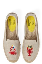 Soludos Women's X Mary Matson Lobster & Crab Platform Espadrille