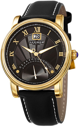 Akribos XXIV Men's Leather Watch