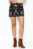 Flying Tomato Floral Embroidered Skirt