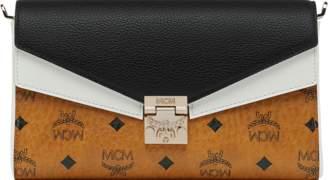 MCM Millie Flap Crossbody In Visetos Leather Block