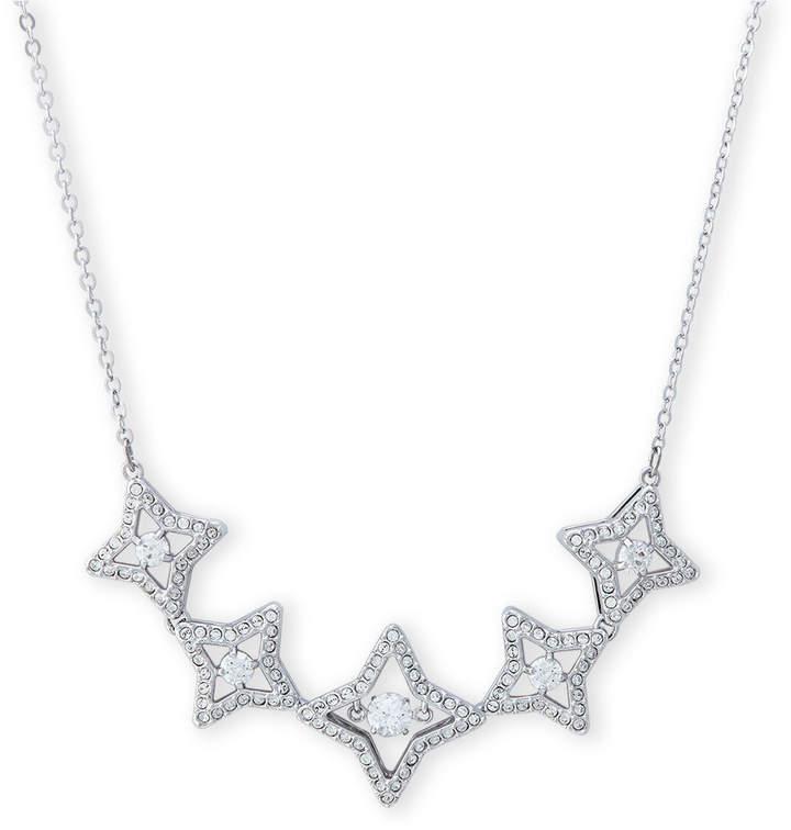4dd843a9c5235 Rhodium-Tone Sparkling Dance Star Necklace