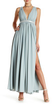 Gracia Gathered Crisscross Maxi Dress