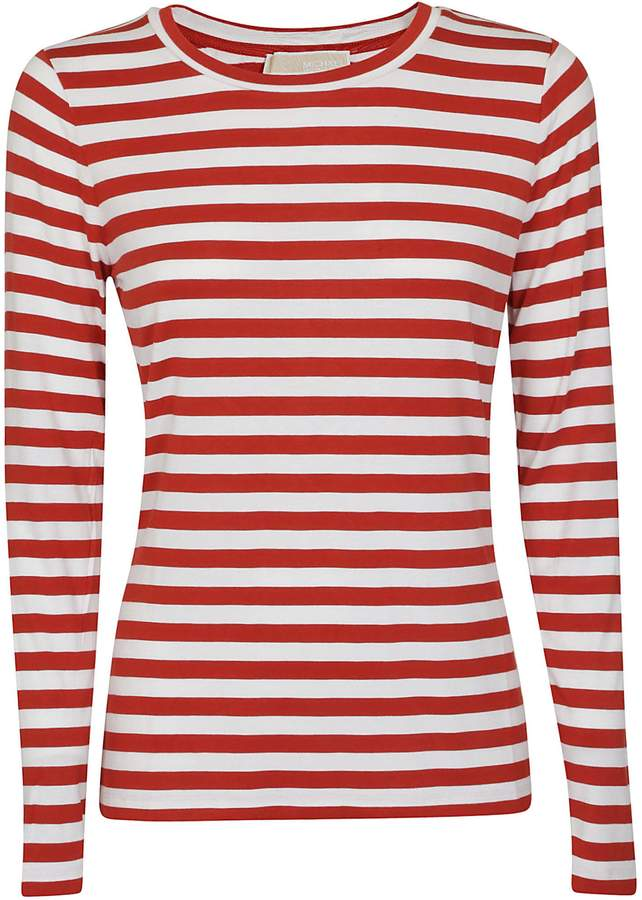 c3e9f35f72 Womens Red And White Striped Long Sleeve Top - ShopStyle UK