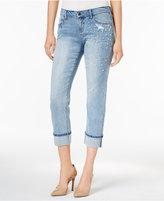 Earl Jeans Pearl Embellished Boyfriend Jeans