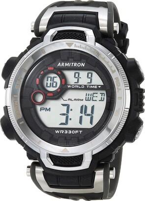 Armitron Sport Men's Digital Chronograph Black and Grey Resin Strap Watch 40/8458GBK