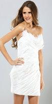 Mignon White Feather Cocktail Dresses