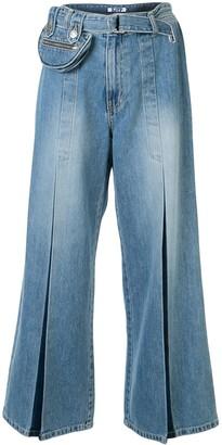 Sjyp Belted Pocket Wide jeans