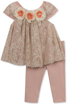 Rare Editions 2-Pc. Lace Top & Leggings Set, Baby Girls (0-24 months)