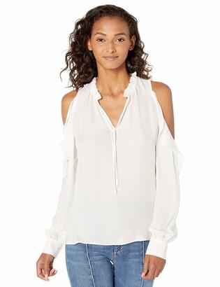 Parker Women's Marjorie Long Sleeve Cold Shoulder Ruffle Blouse
