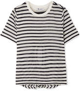 Alexander Wang Cutout Striped Slub Stretch-jersey T-shirt