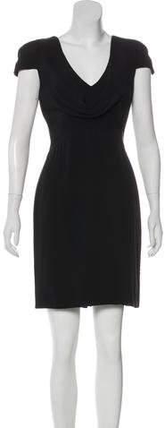 Alexander McQueen Silk Cowl Neck Dress