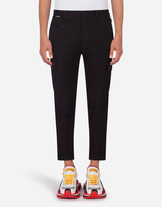 Dolce & Gabbana Cargo Pants In Stretch Cotton