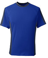 Lands' End Men's Tall Short Sleeve Swim Tee-Rich Sapphire