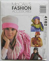 Mccall's 4182 Sewing Pattern ~ Misses' Fleece Accessories; Hats, Scarves, Gloves and Mittens, Sizes SML