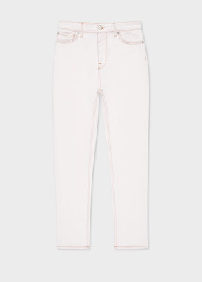 Paul Smith Women's Cream Girlfriend-Fit Jeans