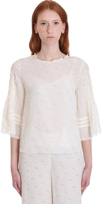See by Chloe Blouse In White Cotton