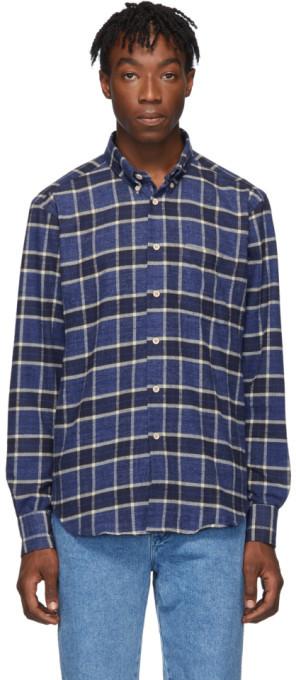 Naked & Famous Denim Denim Blue Northern Brushed Flannel Easy Shirt